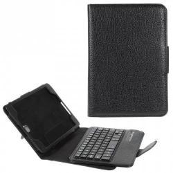 Notesz / mappa tok - oldalra nyíló, asztali tartó funkciós, BLUETOOTH billentyűzetTEL, QWERTY angol nyelvű! - FEKETE - SAMSUNG SM-T350 Galaxy Tab A 8.0
