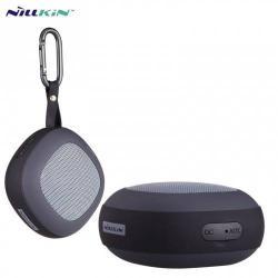 NILLKIN STONE BLUETOOTH hordozható hangszóró - 3.5 mm csatlakozó, mikrofon, NFC, AUX, karabiner - FEKETE