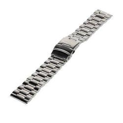 UNIVERZÁLIS fém okosóra szíj - EZÜST - 175 x 20 mm - Samsung Gear 2 R380 / Samsung Gear 2 Neo R381 / LG G Watch W100 / LG G Watch R W110 / Asus Zenwatch