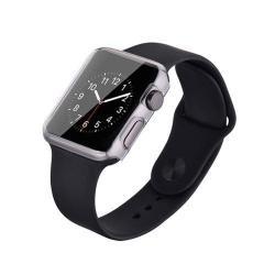 DEVIA 0.7mm ultravékony okosóra szilikon tok - ÁTLÁTSZÓ - Apple Watch 38mm - GYÁRI