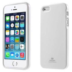 MERCURY szilikon védő tok / hátlap - FEHÉR - Apple IPhone 5 / Apple IPhone 5S
