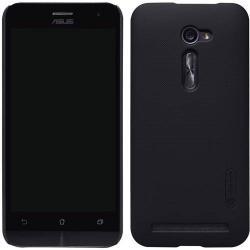 NILLKIN műanyag védő tok / hátlap - képernyővédő fólia - FEKETE - ASUS Zenfone 2 (ZE500CL)- GYÁRI