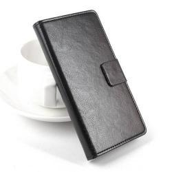 Notesz / flip tok - oldalra nyíló flip cover, asztali tartó funkció, mágneses záródás, bankkártya tartó - FEKETE - Lenovo A399 - PRÉMIUM!