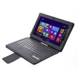 SEENDA notesz / mappa tok - álló, bõr, asztali tartó funkciós, BLUETOOTH billentyûzet, QWERTY, angol nyelvû! - IS11-TP - FEKETE - Lenovo Thinkpad Tablet 2