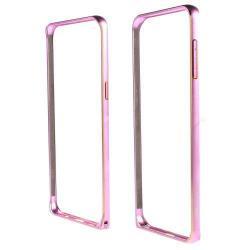 LOVE MEI alumínium védő keret - BUMPER - RÓZSASZÍN - SAMSUNG SM-G928 Galaxy S6. Edge +