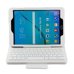 Notesz / mappa tok - FEHÉR - álló, bõr, asztali tartó funkciós, BLUETOOTH billentyûzet, QWERTY, angol nyelvû! - SAMSUNG SM-T810 / SM-T815 Galaxy Tab S2 9.7