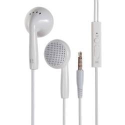 LANGSTON IN2 univerzális sztereo headset - 3,5mm jack csatlakozó, felvevő gombos - FEHÉR