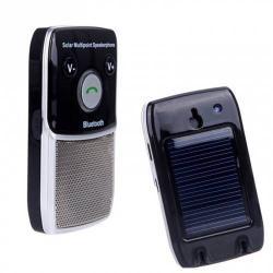 BLUETOOTH kihangosító szett - NAPELEMES, napellenzõre rögzíthetõ, hordozható, Bluetooth 2.1 + EDR - FEKETE / EZÜST