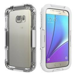 Vízhatlan / vízálló tok - 10m-ig vízálló - FEHÉR - SAMSUNG SM-G930 Galaxy S7