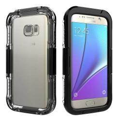 Vízhatlan / vízálló tok - 10m-ig vízálló - FEKETE - SAMSUNG SM-G930 Galaxy S7