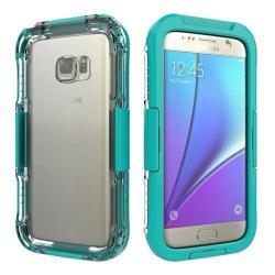 Vízhatlan / vízálló tok - 10m-ig vízálló - CYAN - SAMSUNG SM-G930 Galaxy S7