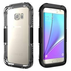 Vízhatlan / vízálló tok - 10m-ig vízálló - FEKETE - SAMSUNG SM-G935 Galaxy S7 Edge