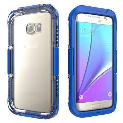 Vízhatlan / vízálló tok - 10m-ig vízálló - SÖTÉTKÉK - SAMSUNG SM-G935 Galaxy S7 Edge