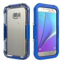 Vízhatlan / vízálló tok - 10m-ig vízálló - SÖTÉTKÉK - SAMSUNG SM-G930 Galaxy S7