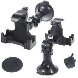 UNIVERZÁLIS autós telefon tartó - tapadókorongos, szélvédõre vagy szellõzõrácsba rögzíthetõ - max. 175 x 125 x 45mm-es méretû készülékkel használható - FEKETE
