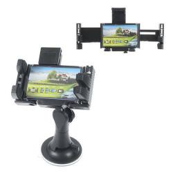 UNIVERZÁLIS autós telefon tartó - tapadókorongos, szélvédõre rögzíthetõ - 85-175mm / 80-95mm-ig állítható bölcsõvel - FEKETE