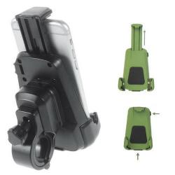 Telefon tartó kerékpár / bicikli - UNIVERZÁLIS - elforgatható - 70-90 / 100-160 mm-ig nyíló bölcsõvel