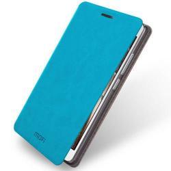 MOFI notesz / mappa tok - VILÁGOSKÉK - oldalra nyíló flip cover, asztali tartó funkció, szilikon belső - Lenovo Vibe P1m