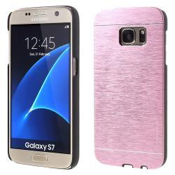 MOTOMO műanyag védő tok / alumínium hátlap - RÓZSASZÍN - SAMSUNG SM-G930 Galaxy S7