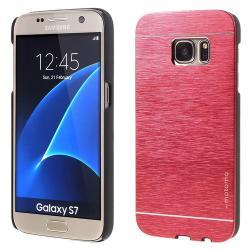 MOTOMO műanyag védő tok / alumínium hátlap - PIROS - SAMSUNG SM-G930 Galaxy S7