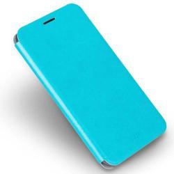 MOFI notesz / mappa tok - VILÁGOSKÉK - bőr hátlap, oldalra nyíló flip cover, asztali tartó funkciós, szilikon belső - ASUS Zenfone 3 Deluxe (ZS570KL) - GYÁRI