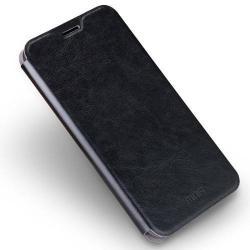 MOFI notesz / mappa tok - FEKETE - bőr hátlap, oldalra nyíló flip cover, asztali tartó funkciós, szilikon belső - ASUS Zenfone 3 Deluxe (ZS570KL)