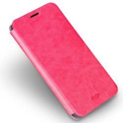 MOFI notesz / mappa tok - RÓZSASZÍN - bőr hátlap, oldalra nyíló flip cover, asztali tartó funkciós, szilikon belső - ASUS Zenfone 3 Ultra (ZU680KL) - GYÁRI
