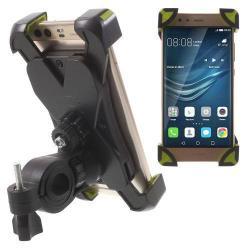 X-TREME telefon tartó kerékpár / bicikli - FEKETE / ZÖLD - UNIVERZÁLIS - elforgatható - 180-92 mm-ig nyíló bölcsõvel