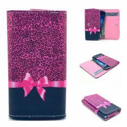 UNIVERZÁLIS notesz / pénztárca tok - MASNI MINTÁS - extra belsõ zsebekkel, oldalra nyíló, patentos záródás, 144 x 75mm
