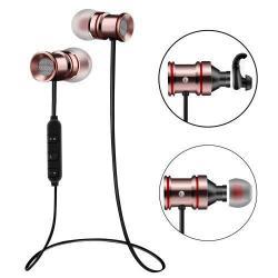 MAGNET SZTEREO SPORT bluetooth headset - ROSE GOLD, V4.0, felvevõ gomb, hangerõ szabályzó