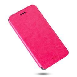 MOFI notesz / mappa tok - bőr hátlap, oldalra nyíló flip cover, asztali tartó funkciós, szilikon belső - RÓZSASZÍN - HUAWEI Honor Note 8 - GYÁRI