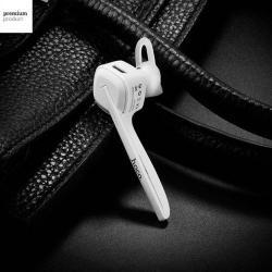 HOCO E9 Business bluetooth headset - FEHÉR - V4.1, HSP, HFP, A2DP, AVRCP, felvevõ gomb - GYÁRI