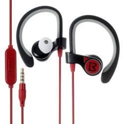 BENWIS E300 sztereo sport headset - 3,5mm Jack, mikrofon, felvevő gomb, hordtáska - PIROS / FEKETE