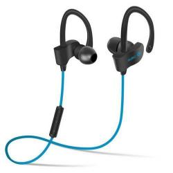 SZTEREO SPORT bluetooth headset - VILÁGOSKÉK - V4.1, felvevõ gomb, hangerõ szabályzó, fülre akasztható, cseppálló