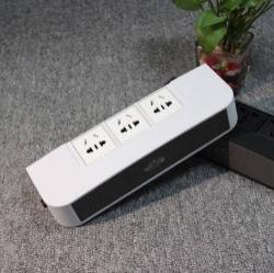 Bluetooth hangszóró / hálózati töltõ / USB töltõ - 3xEU hálózati töltõaljzat, 2 USB QC quick charge aljzat, 3.5mm Jack csatlakozás - FEHÉR