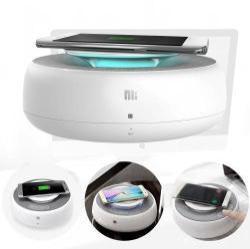 NILLKIN MC2 hordozható bluetooth hangszóró és kihangosító - QI Wireless vezeték nélküli töltõ, NFC funkció, AUX, USB töltõ (5V/2A, 9V/2A, 12V/1.5A) - FEHÉR