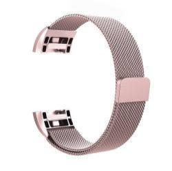 Fém okosóra szíj - ROSE GOLD - Fitbit Charge 2