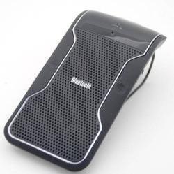 BLUETOOTH kihangosító szett - napellenzõre rögzíthetõ, hordozható, Bluetooth 3.0, USB autóstöltõvel - FEKETE