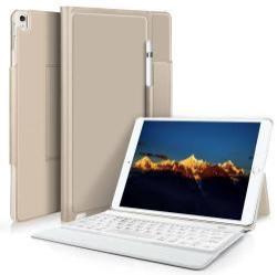 Notesz / mappa tok - ARANY - asztali állvány funkció, beépített bluetooth billentyűzet, ON/OFF funkciós - APPLE iPad Pro 10.5 (2017)
