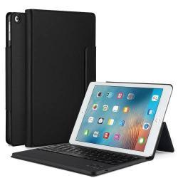 Flip / mappa bőrtok - bluetooth billentyűzet, ANGOL KIOSZTÁS! - APPLE IPAD 9.7 (2017) (5. GENERÁCIÓS) - FEKETE / APPLE iPad 9.7 (2018)