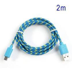 Adatátviteli kábel / USB töltő - microUSB 2.0, 1,5m hosszú, 1A - KÉK