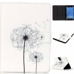 UNIVERZÁLIS notesz / mappa tablet PC tok - PITYPANG MINTÁS - álló, bőr, mágneses, asztali tartó funkciós, 8