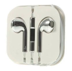 Univerzális sztereo headset - 3,5mm jack csatlakozó, felvevő gombos - EZÜST