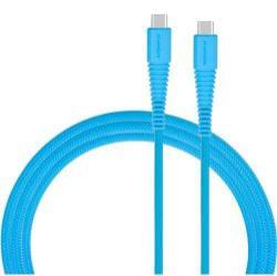 MOMAX USB Type-C / Type-C adatátviteli kábel / USB töltő 1,2 m, 3A - KÉK - GYÁRI