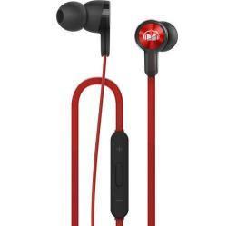 HUAWEI Honor AM15 sztereo headset - PIROS - 3,5mm jack, mikrofon, felvevő és hangerő szabályzó gombok - GYÁRI