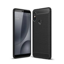 OTT! CARBON szilikon védő tok / hátlap - FEKETE - karbon mintás, ERŐS VÉDELEM! - Xiaomi Redmi Note 5 Pro (Global version) / Xiaomi Redmi Note 5 (Global version)