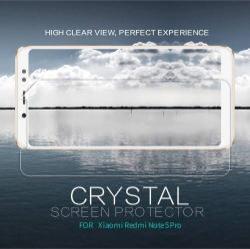 NILLKIN képernyővédő fólia - CRYSTAL HD Clear - 1db, törlőkendővel - Xiaomi Redmi Note 5 Pro (Global version) / Xiaomi Redmi Note 5 (Global version) - GYÁRI