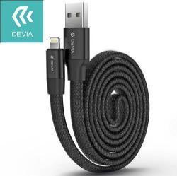 DEVIA Apple Lightning adatátvitel adatkábel és töltõ - 80cm hosszú, MFI engedélyes - FEKETE