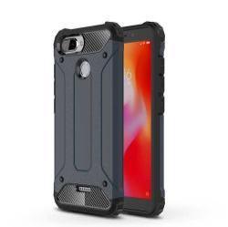 OTT! MAX DEFENDER műanyag védő tok / hátlap - SÖTÉTKÉK - szilikon belső, ERŐS VÉDELEM! - Xiaomi Redmi 6