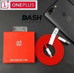 Oneplus Dash Charge, Fast Charge adatátvitel adatkábel és USB töltőkábel (USB Type-C, 1m, max 4A kimenetre képes!, lapos kábelkivitel) PIROS - GYÁRI